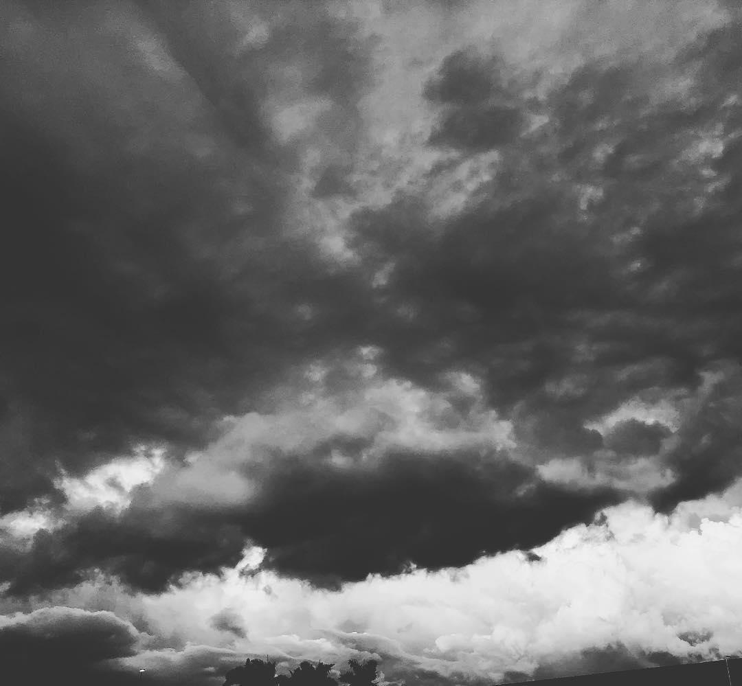 dark clouds overhead.